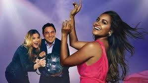 Julie Zemiro, Sam Pang and Jessica Mauboy at Eurovision
