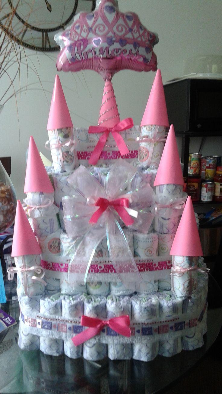 Castle Diaper Cake Baby Shower Pinterest Cakes