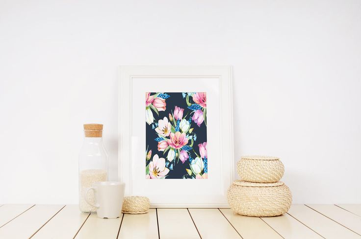 Watercolor Flower Print, Floral Poster, Floral Watercolor Art, Abstract Flowers, Bathroom Decor, Floral Painting Print, Watercolor Wall Art by InspirationsByJason on Etsy