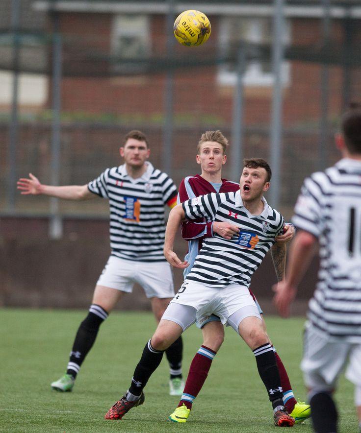 Queen's Park's Adam Cummins in action during the Ladbrokes League One game between Stenhousemuir and Queen's Park.