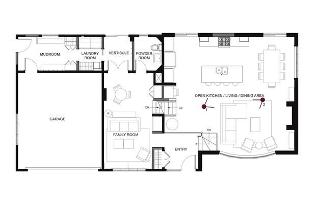 After Floor Plans After The Renovation Of A West Island