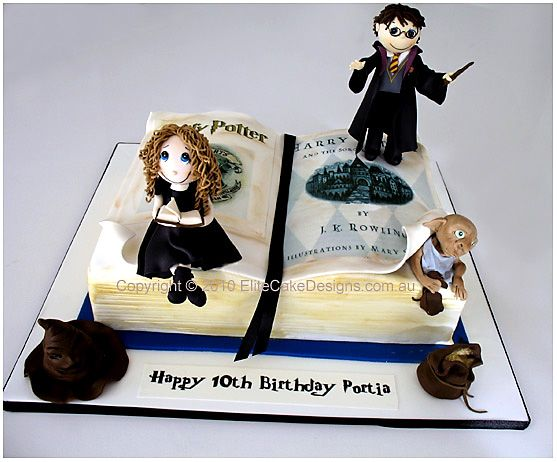 Harry Potter novelty birthday cake http://www.elitecakedesigns.com.au/harry-potter-birthday-cake.html#