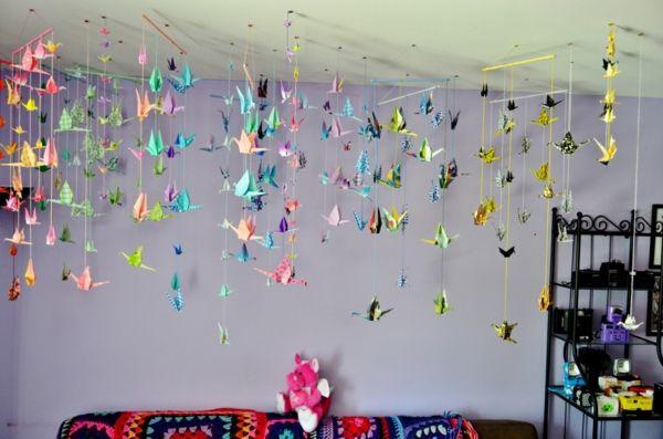 la guirlande origami est une d co chouette pour vos int rieurs origami d co et d coration. Black Bedroom Furniture Sets. Home Design Ideas