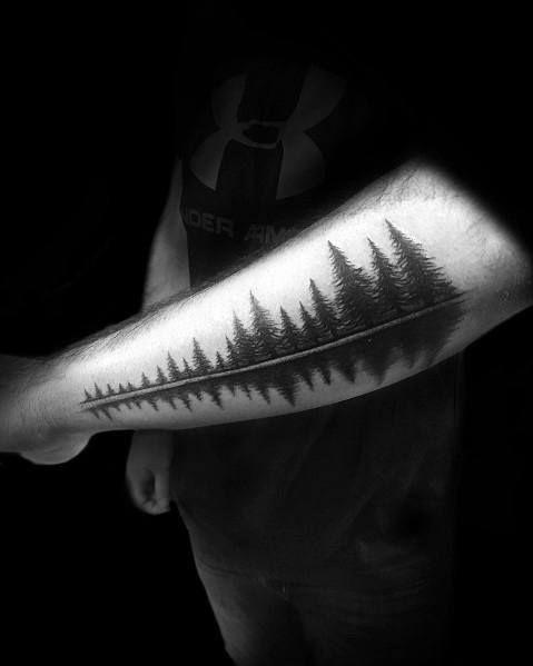 fcddf94f7e889 50 Tree Line Tattoo Design Ideas For Men - Timberline Ink | Tattoos ...