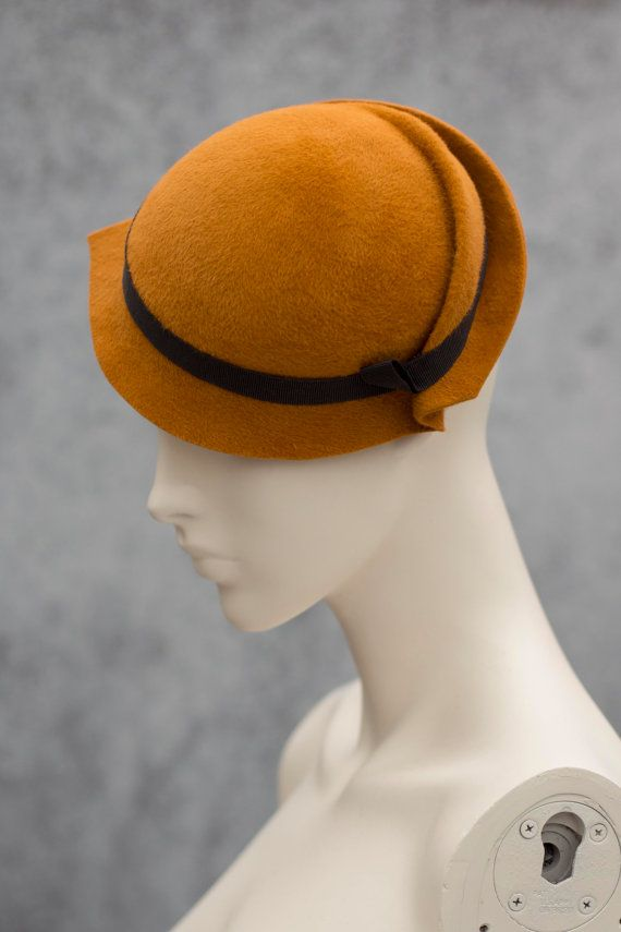 Mini Hat Retro Style Hat Felt Side Tilt by MaggieMowbrayHats