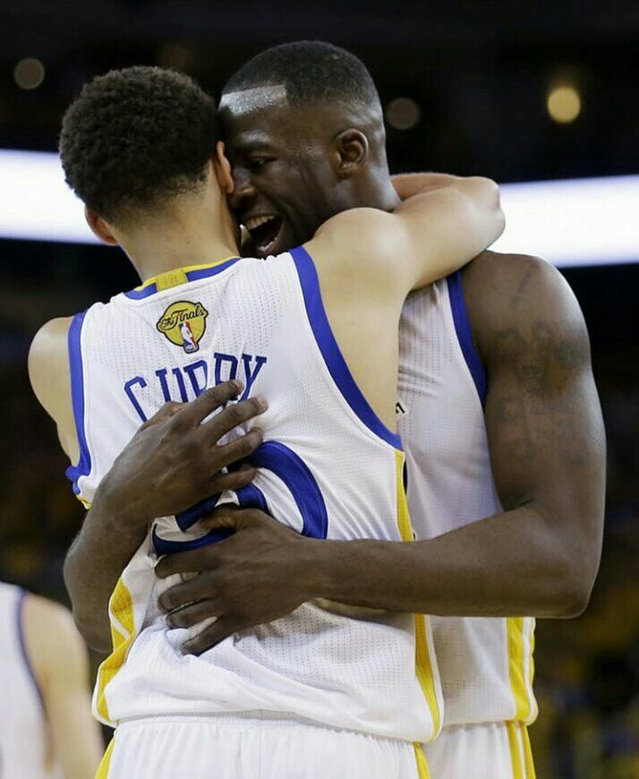 Stephen Curry and teammate Draymond Green #dubnation #warriors