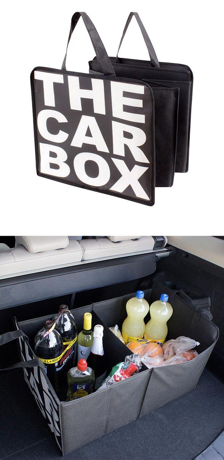 ORGANIZADOR DE COCHE 'CAR BOX' Lleva toda tu compra o los artículos que quieras…