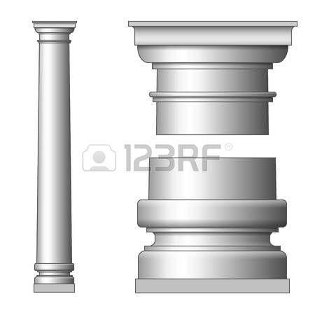 Klassische Antike S�ule. Vektor-Illustration auf wei�em photo