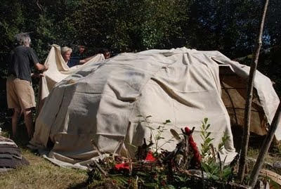 covering the sweatlodge for our guests who come via irland-wandern.de
