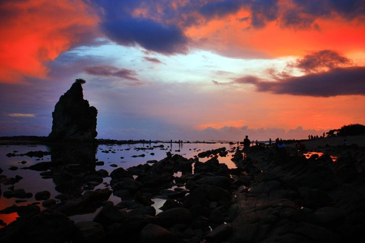Sunset on Sawarna Beach #PINdonesia