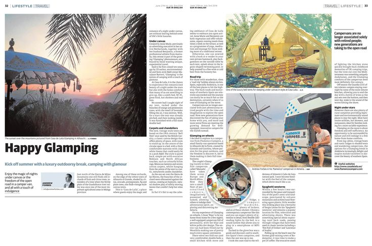 Glamping – camping with a touch of glamour in Andalucia - travel feature by Andrew Forbes www.andrewforbes.com #luxurytravelpursuits #luxestyletravel