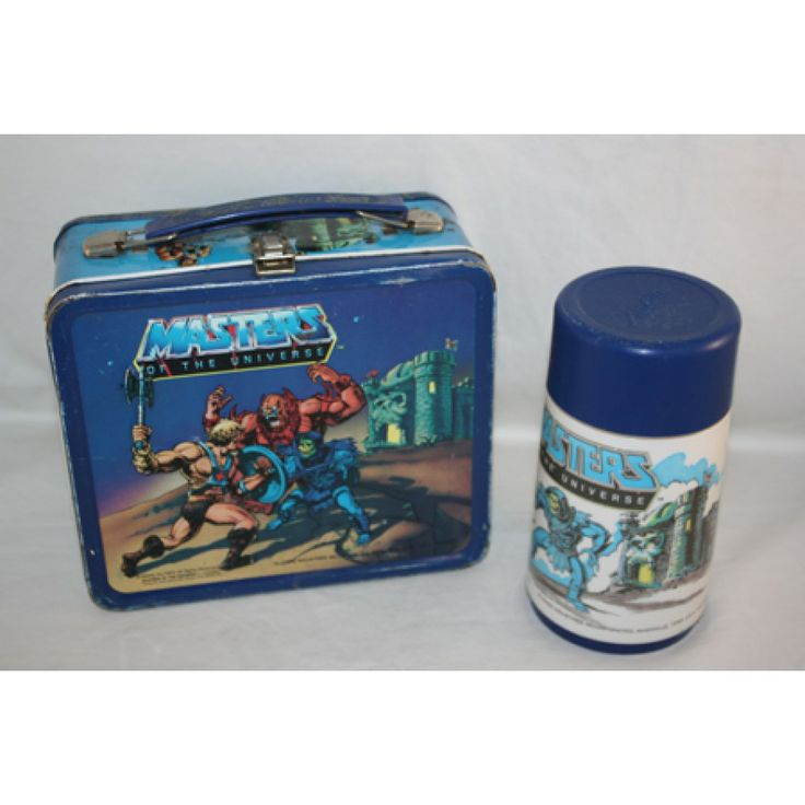 1983 MASTER OF THE UNIVERSE LUNCH BOX METAL LUNCH BOX WITH THERMOS VINTAGE BY AMERICAN THERMOS  sc 1 st  Pinterest & 205 best COLLECTIBLES images on Pinterest   Metal lunch box ... Aboutintivar.Com