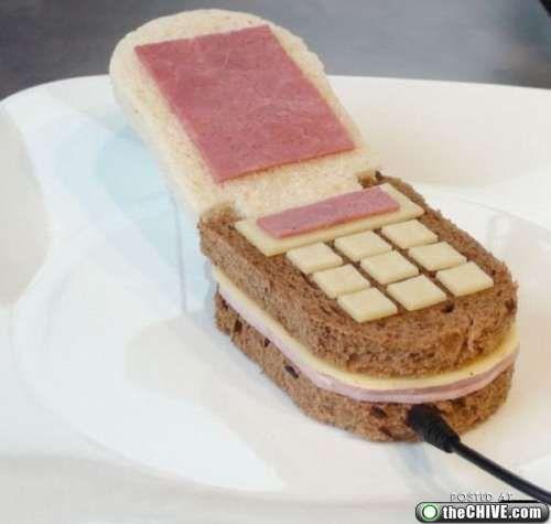 Hello?!? I'm on on my sandwich! #NoMobileHere