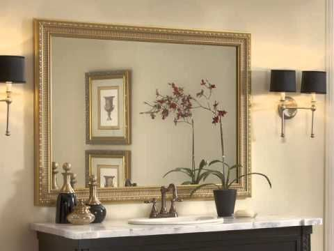 pretty framing a bathroom. Watch the MirrorMate video and see how mirrors transform from bare to  beautiful Frames 42 best How It Works images on Pinterest Bathroom