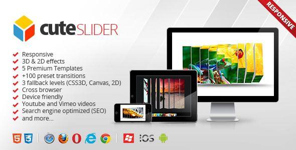 awesome Cute Slider - 3D & 2D HTML5 Image Slider
