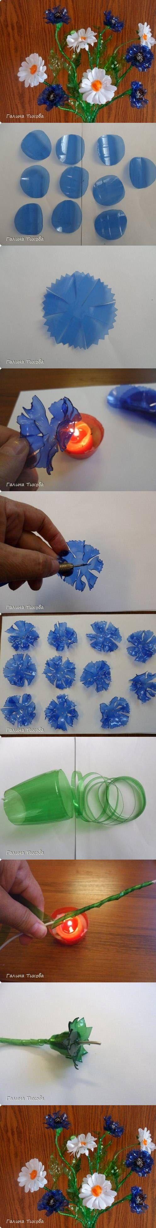Beautiful Plastic Flower | DIY & Crafts Tutorials