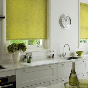 Lime Green Dim Out Roller Blind