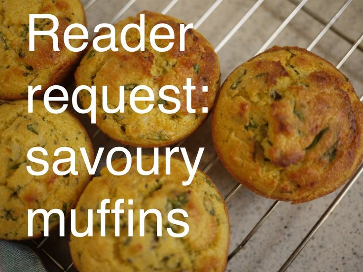 Savoury corn muffins and a bit of news