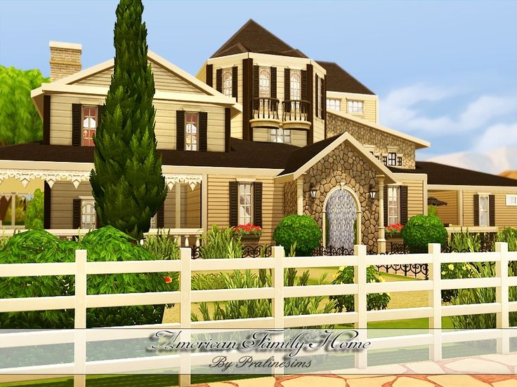 Pralinesims 39 american family home sims 4 lots for American family homes