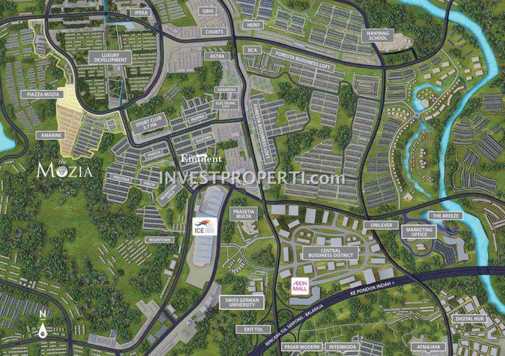 Peta Lokasi The Mozia BSD City