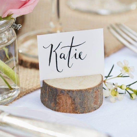 Platzkarten Halter Namensschild Stander Hochzeit Holz Deko Etsy Wooden Place Card Holders Place Card Holders Place Card Holders Wedding