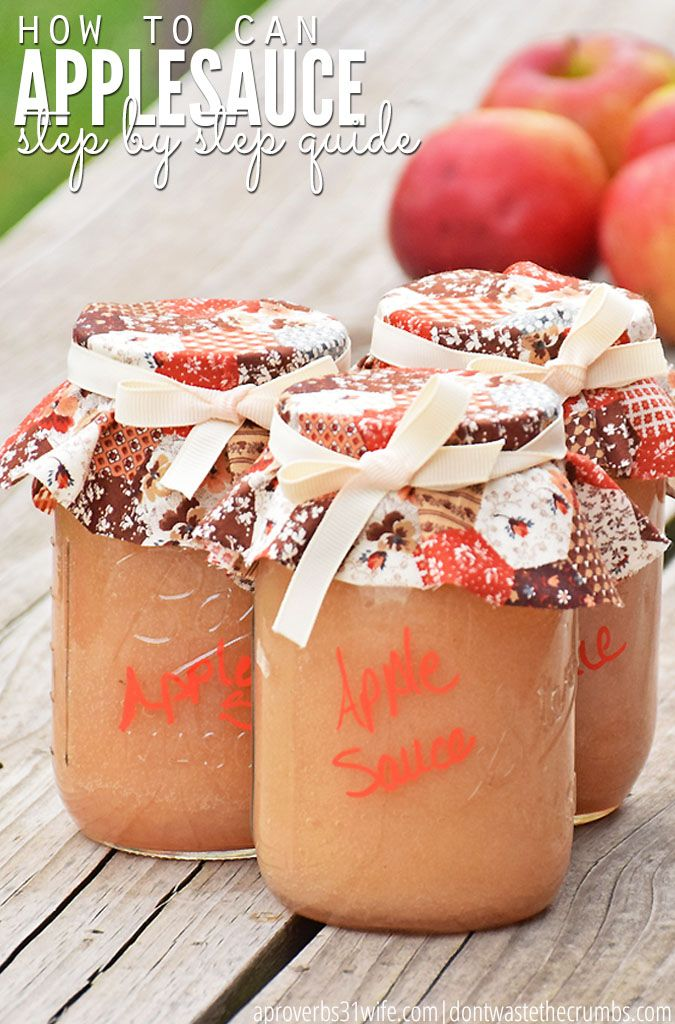 How to can applesauce - an easy, step-by-step tutorial walking you through how to make homemade applesauce and then how to can applesauce. An easy recipe that lets you enjoy fresh apples year round! :: DontWastetheCrumbs.com