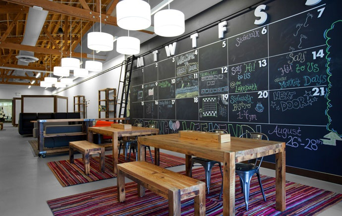 Chalkboard walls are super fun!: Office Ideas, Chalk Board, Wall Calendar, Chalkboard Calendar, Coworking Space