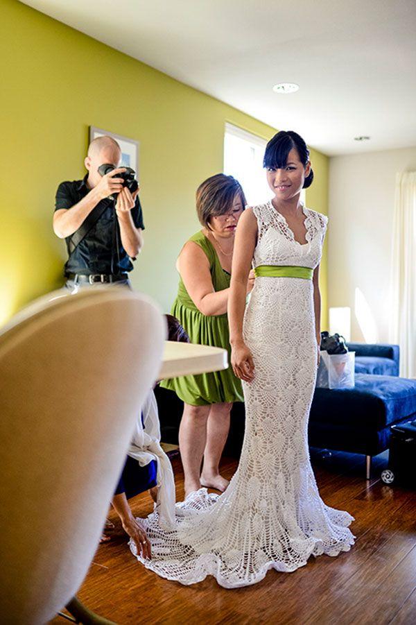 6 Amazing Crochet Wedding Dresses