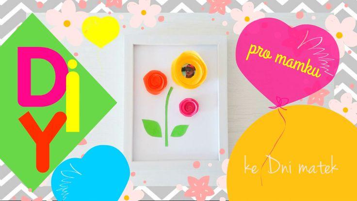 DIY Inspirace ❀ úsměv s růží ke Dni matek ❀