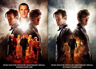 What Dr. Who's 50th anniversary should look like and what it does. WOW I remember seen Dr. Who way back from  #4 Tom Baker and reruns of the other three Doctors.