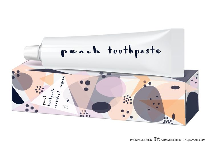 My choice for toothpaste packing design.