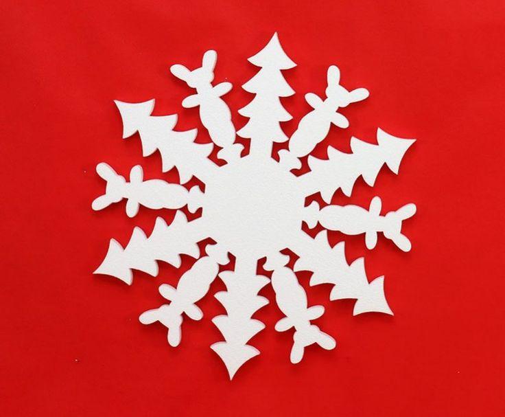 Śnieżynka, płatki śniegu model 45
