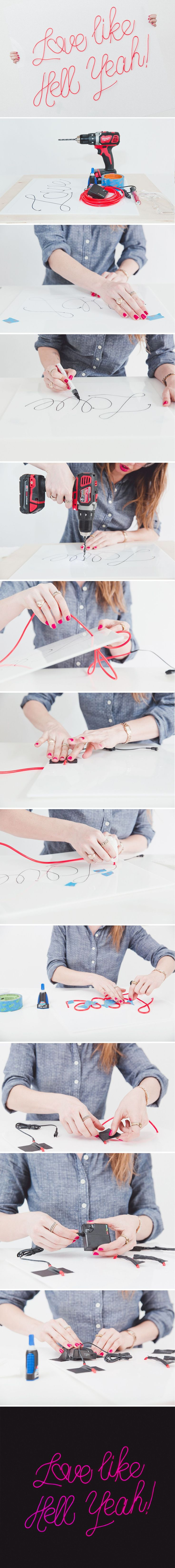 diy neon sign tutorial