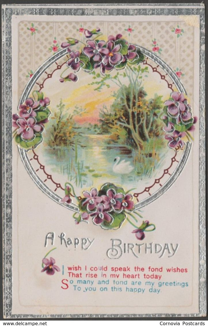 A Happy Birthday C1920 Embossed Greetings Postcard Postcards