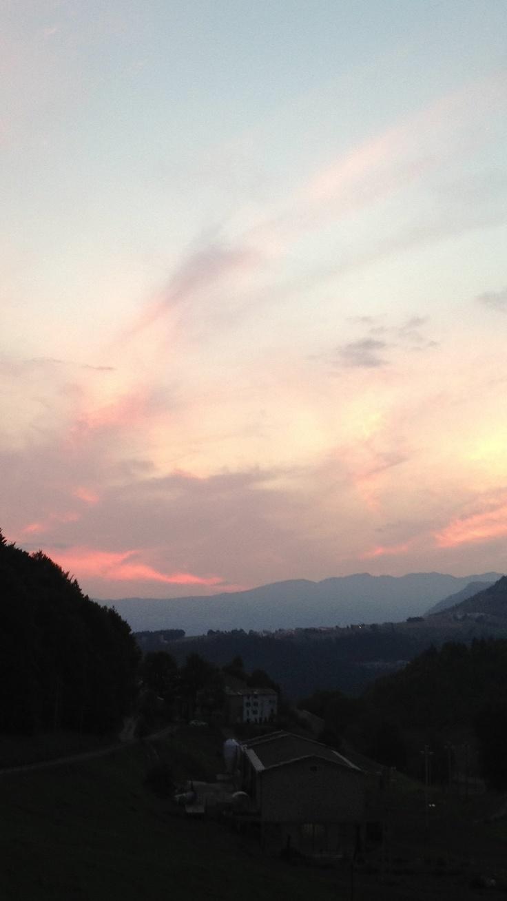 #Lessinia al tramonto