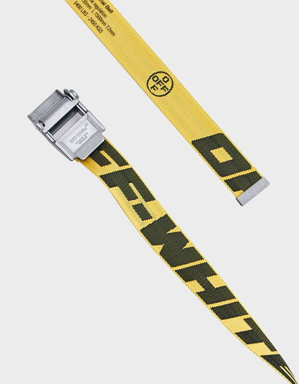 Off White 2 0 Industrial Belt In Yellow And Black Off White Belt Off White Shop
