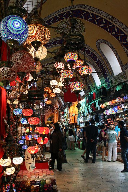 Grand Bazaar, Istanbul, Turkey. The most colorful and beautiful market I've ever seen. DL