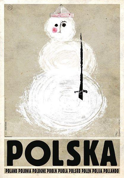 Poland, Winter - Snowman Polska, Zima - Balwan Kaja Ryszard Polish Poster