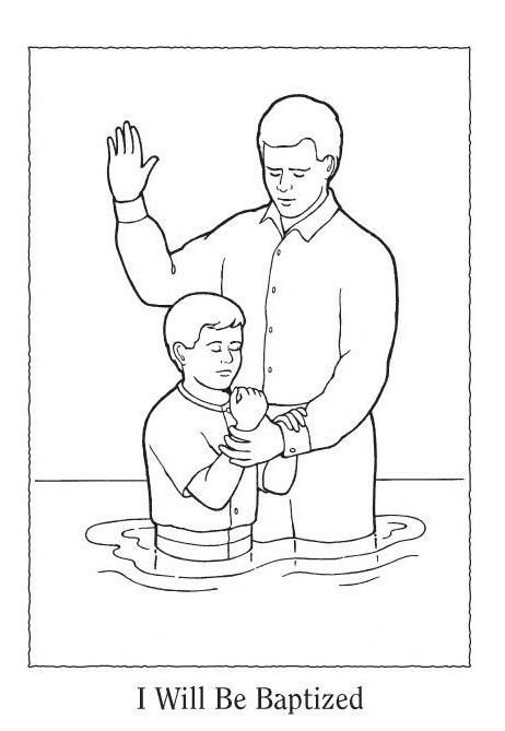 Lds Baptism Coloring Pages View Original Image Kids