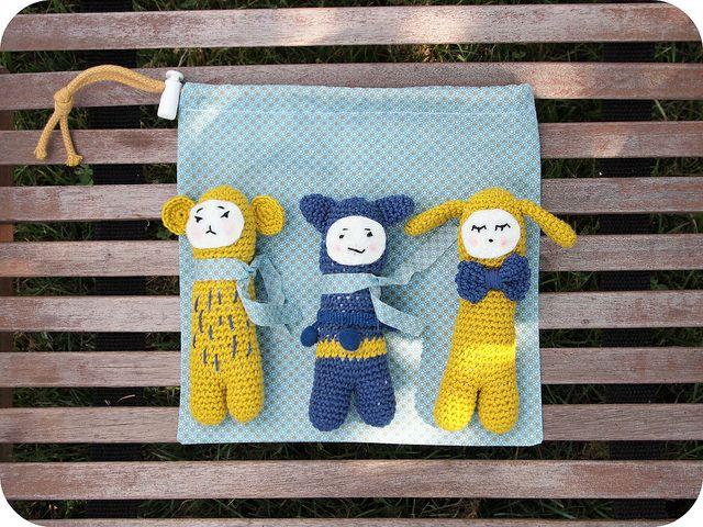 """Mini-trio de Tournicote """"Tendre Crochet"""" // Un Grain de Cel"""