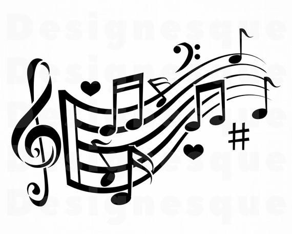 Music Logo 7 Svg Musical Note Svg Music Note Svg Musical Etsy Music Notes Art Music Clipart Music Notes Drawing