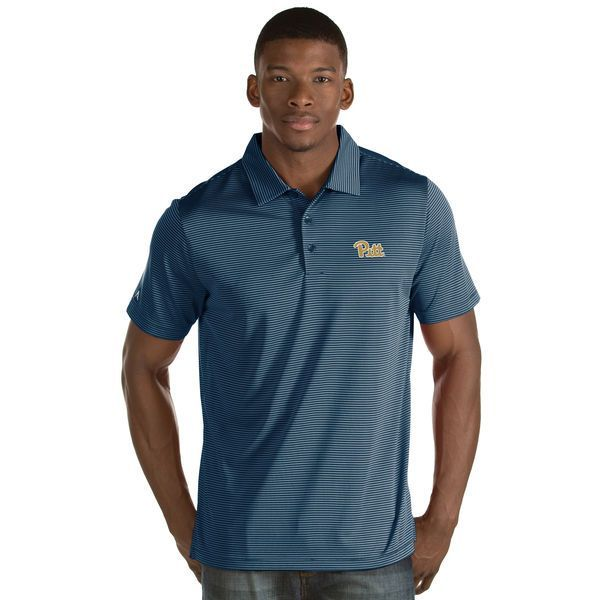Pitt Panthers Antigua Quest Stripe Jersey Polo - Navy - $64.99