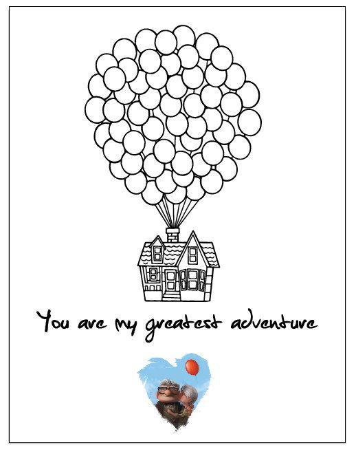 Disney Pixar Up Movie Poster Digital PDF file 8.5 x 11 letter size Anniversary, … – Disney
