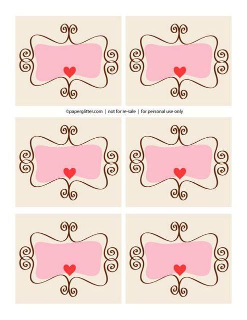 Etiquetas Dia dos Namorados para imprimir | colorindodesenhos