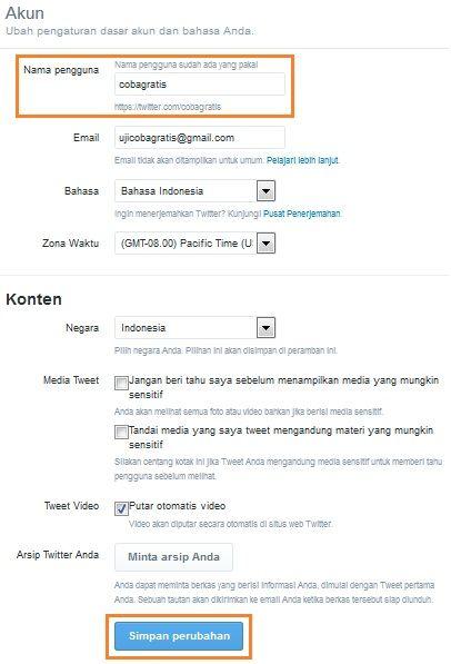 Cara Mengganti Nama Pengguna Twitter Terbaru