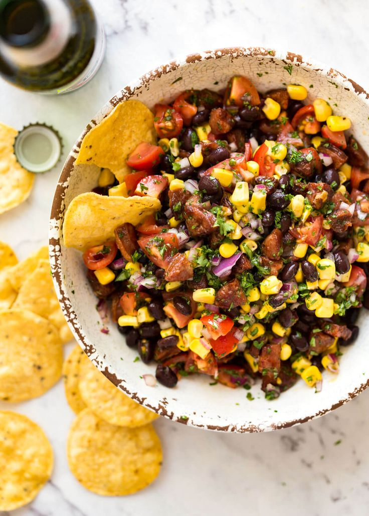Most people would call this a Chorizo, Black Bean and Corn Salsa. I call it a PIG OUT SALSA! Serve with chips or over a simple piece of grilled protein.