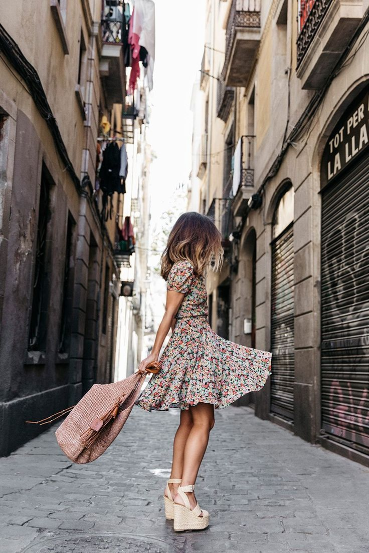 Girl in summer dress tumblr color