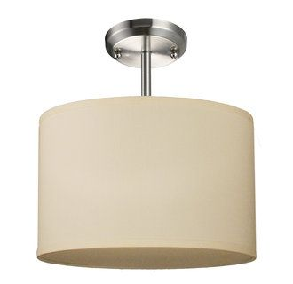 View the Z-Lite 171-12-SF 1 Light Semi Flush Mount Ceiling Fixture with Fabric Round Shade from the Albion Collection at Build.com.
