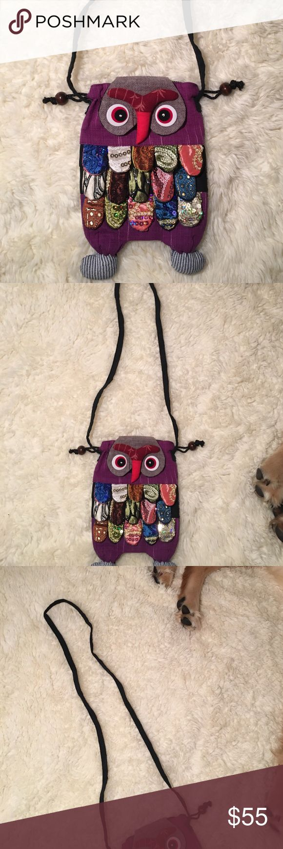 Owl purse hand made Owl purse American Apparel Bags
