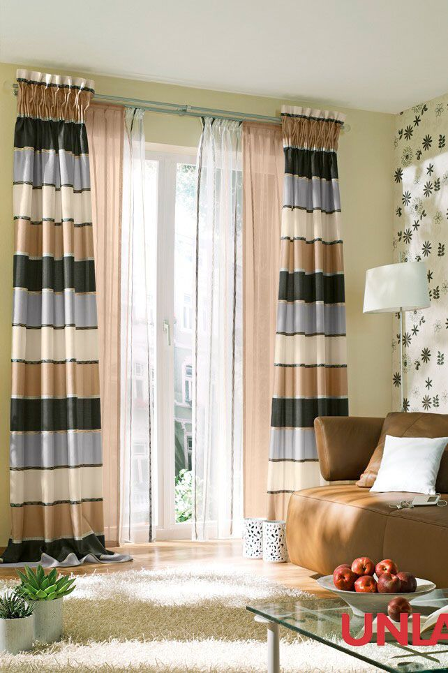 Unland Tamino mocca, Fensterideen, Vorhang, Gardinen und Sonnenschutz - curtains, contract fabrics, pleated blinds, roller blinds and more. Made in Germany
